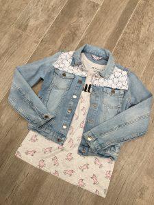 Unicorn t shirt & jeansjasje Primark
