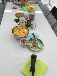 Thema safari dieren feestje tafelversiering