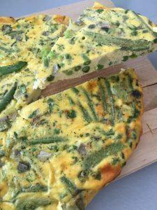 Gezonde en snelle lunch : Omelet met groenten uit de oven