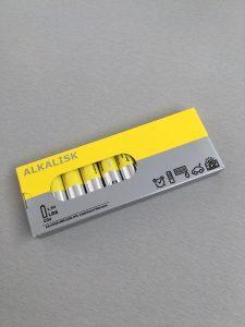 AA batterijen - Ikea shoplog Lievelyne