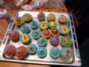 Bumba cupcakes resultaat