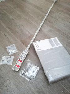 Ikea shoplog - Gordijnrail en gordijn als scheidingswand