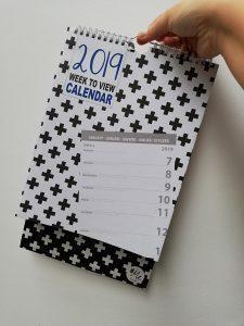 Weekplanner 2019 Action shoplog