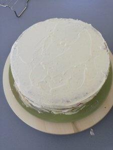 Taart met botercrème van witte chocolade - LIEVELYNE