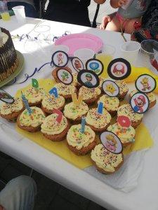 Simpele Mario Bros Cupcakes en diy cupcake toppers - Lievelyne