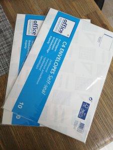Grote envelopes Action shoplog 2019