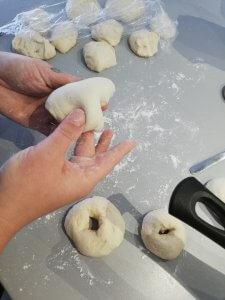 bagels maken van deeg